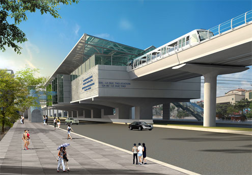 Mô hình một ga metro tại Hà Nội