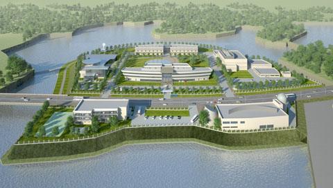Mô hình Trung tâm Vũ trụ Việt Nam